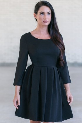 Black A-Line Party Cocktail Dress