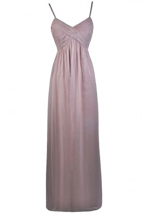 Mink Light Purple Maxi Bridesmaid Dress