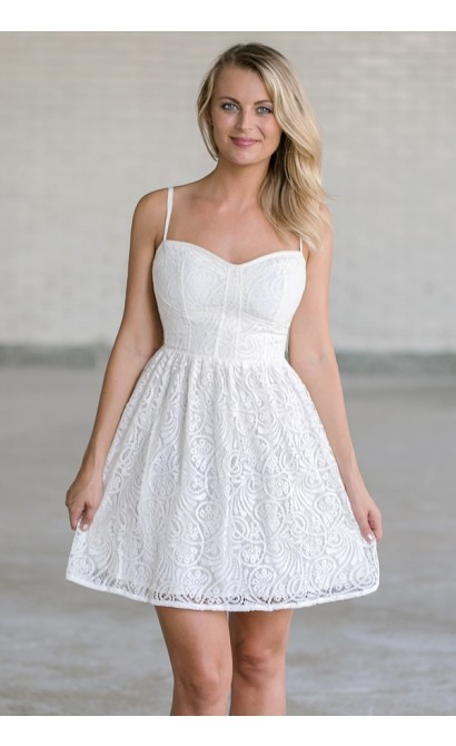 Like The Wind Dress in Off White