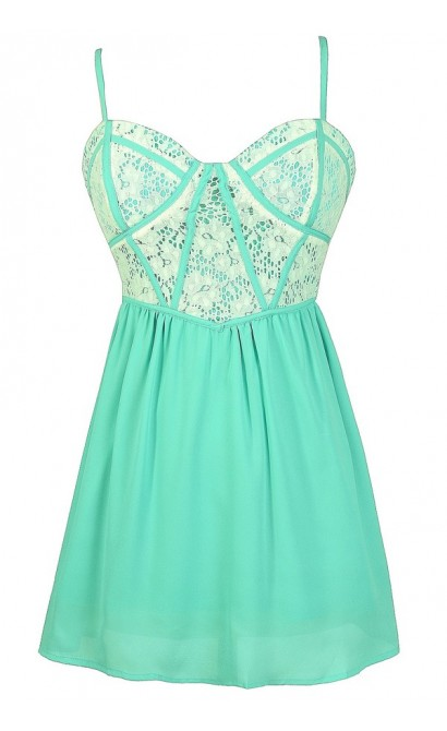Mint Lace Top, Mint and Ivory Top, Cute Mint Lace Top, Mint Lace Babydoll Top, Cute Juniors Top