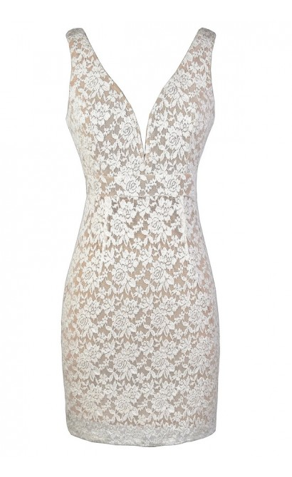 Ivory Lace Dress, Beige Lace Dress, Fitted Ivory and Beige Lace Dress, Beige Lace Pencil Dress, Ivory Lace Pencil Dress, Ivory and Beige Lace Bodycon Dress
