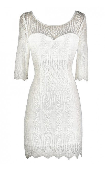 Cute Ivory Dress, Ivory Lace Dress, Ivory Rehearsal Dinner Dress, Ivory Bridal Shower Dress, Ivory Lace Sheath Dress, Off White Lace Dress, Off White Embroidered Dress, Off White Sheath Dress, Off White Rehearsal Dinner Dress, Cute Rehearsal Dinner Dress