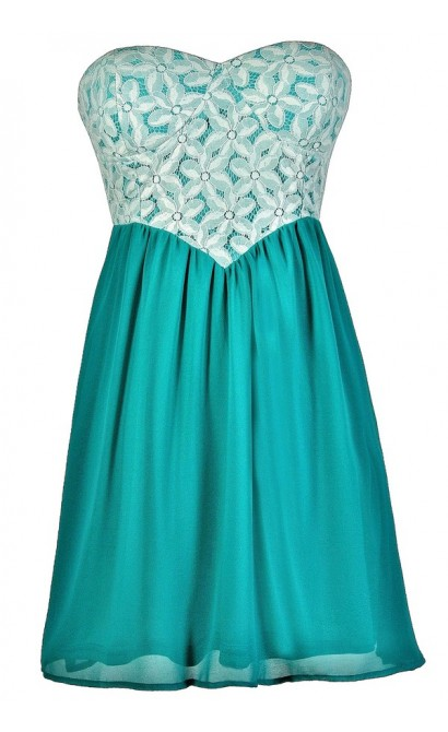 Teal Lace Dress, Cute Teal Dress, Teal Lace Summer Dress, Teal Lace Party Dress, Teal and Ivory Lace Dress, Teal Summer Dress, Turquoise Lace Dress