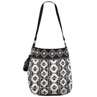 Cute Aztec Purse, Black and White Geometric Aztec Purse, Cute Beaded Purse