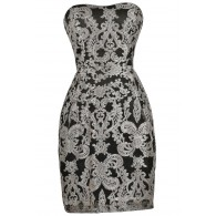 Black and Gold Holiday New Years Party Dress