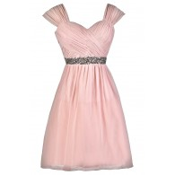 Pink Bridesmaid Dress, Cute Pink Dress, Pink Party Dress