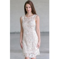 White Lace Rehearsal Dinner Dress