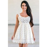 Bohemian Babydoll Crochet Lace Cotton Dress