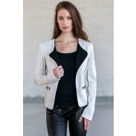Black and White Blazer, Cute Work Outfit