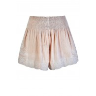 Cute Beige Shorts, Beige and Ivory Shorts, Cute Summer Shorts, Beige Embroidered Shorts