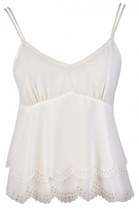 Cute Ivory Top, Cute Off White Top, Off White Summer Top, Cute Summer Top, Cute Flutter Top, Off White Eyelet Top, Ivory Eyelet Top, Cropped Summer Top