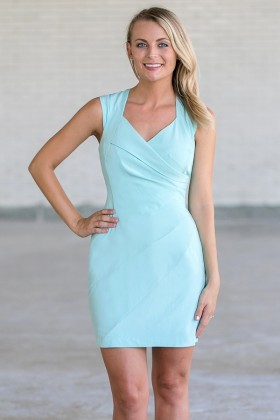 Pale Blue Pencil Dress