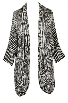 Black and Ivory Fall and Winter Sweater Cardigan