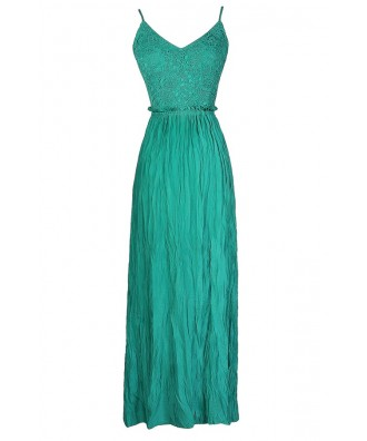 Teal Maxi Dress, Jade Maxi Dress, Open Back Maxi Dress, Open Back Lace Maxi Dress, Cute Maxi Dress, Green Open Back Maxi Dress, Teal Lace Maxi Dress, Jade Lace Maxi Dress