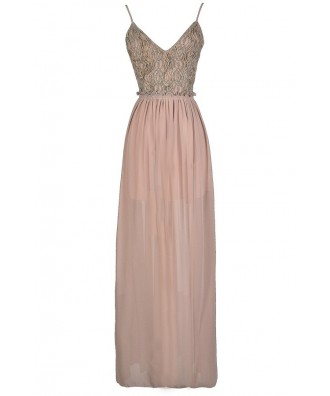 Open Back Maxi Dress, Beige Open Back Maxi Dress, Beige Embellished Maxi Dress, Beige Beaded Maxi Dress, Open Back Prom Dress, Cute Beige Dress, Beaded Beige Dress