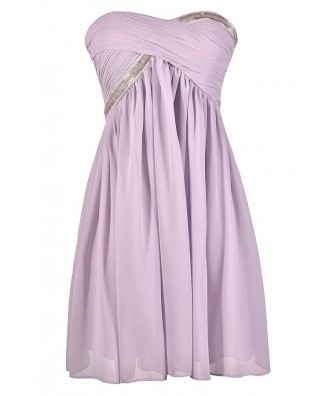 Cute Purple Dress, Cute Lilac Dress, Lilac Party Dress, Lilac Bridesmaid Dress, Lilac Cocktail Dress, Strapless Lilac Dress, Beaded Lilac Dress, Lilac Chiffon Dress, Light Purple Bridesmaid Dress, Light Purple Cocktail Dress, Light Purple Party Dress,