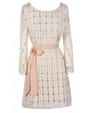 Pink and Ivory Lace Dress, Pale Pink and Ivory Dress, Bell Sleeve Lace Dress, Hippie Dress, Bohemian Summer Dress, Pink and Ivory Lace Bell Sleeve Dress, Cute Summer Dress